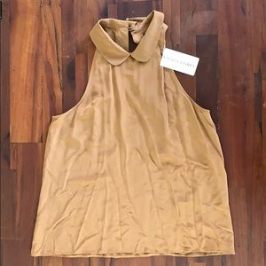 Porter Grey copper silk sleeveless top size 10 NWT